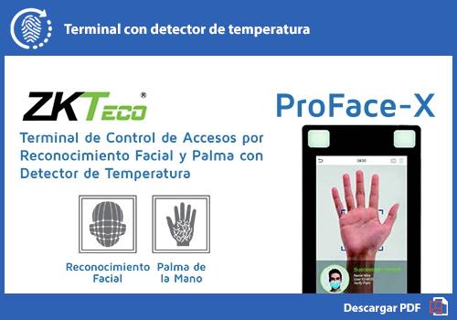 Terminal con control de temperatura